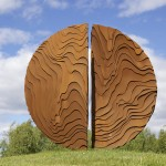 1+1=1, corten, height: 3 meter, Haparanda 2010